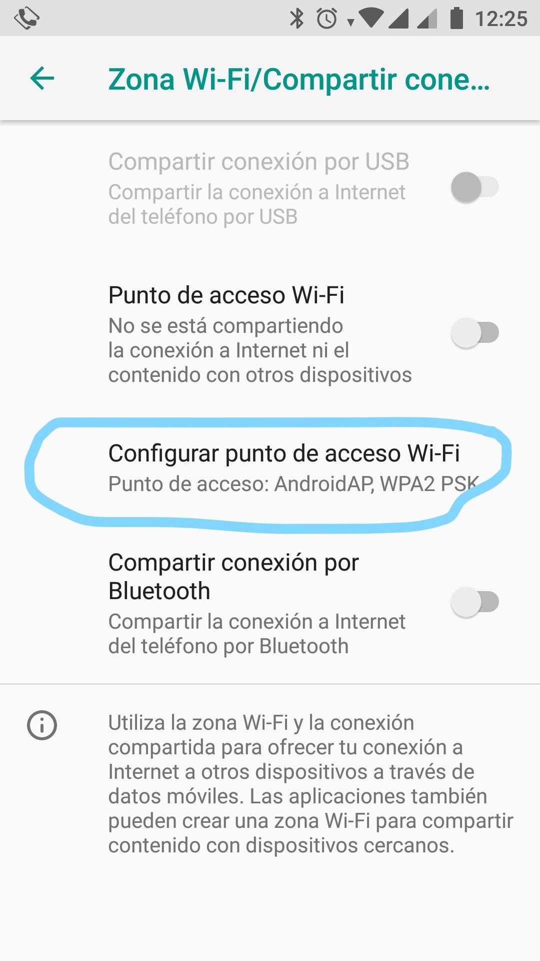 Configurar punto de acceso Wi-Fi